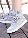 Pantofi pentru femei - Pânză - Toc Plat - Confortabili / Vârf Rotund - Teniși la Modă - Casual - Negru / Gri