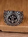 Bărbați Band Ring / Inel de declarație / Inel - Teak Personalizat, Vintage, Casual Argintiu Pentru Cadou