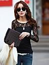 coco Zhang model de bumbac tricou dantelă