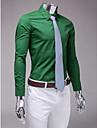 de culoare verde închis slim fit tricou cu maneca lunga