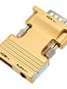 0,1 0.328ft hdmi hona till VGA hane + ljud kvinnliga hd anslutningskabel - guld