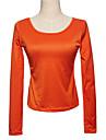 guler u elegant guler pur tricou portocaliu