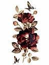 #(1) Временные тату Временные татуировки Тату с цветами Водонепроницаемый Искусство тела / Блеск / С рисунком / Waterproof