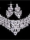 mireasa nunta cercei set accesorii de nunta bijuterii colier (set de 2)