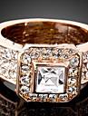 Inele Afirmatoare Cristal Zirconiu Cubic imitație de diamant Aliaj La modă Culoare ecran Bijuterii Petrecere 1 buc