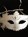 alb pur bijuterie flori de plastic masca de jumătate față
