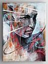 Hang målad oljemålning HANDMÅLAD - Människor Samtida Duk