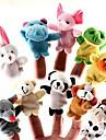set de 10 de pădure marionete deget de pluș animal de copii vorbesc prop (tipuri aleatoare)