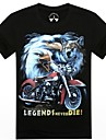 bărbați o-gât motocicleta de vară și de vultur 3d imprimate cu maneci scurte t-shirt
