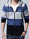 Hoodies & Bluze ( Bumbac/Poliester )de A bărbaților - Informal/Mărime Plus - Pur - Mânecă Lungă