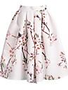 Pentru femei Linie A Fuste - Floral, Plisată Jacquard
