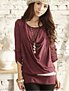 Femeile lui Cowl moda lung T-Shirt
