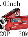 hd 720p 20mp 16x zoom cameră video digitală camera video DV roșu