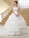 rochie de mireasa fara curea catedra tren organza rochie de mireasa de mireasa brodata