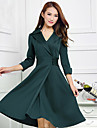 Women\'s Chic & Modern Dress - Solid Colored, Modern Style