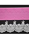 fyra c socker hantverksredskap silikon spets matta söt spets utsmyckning pad, silikonmatta fondant tårta verktyg färgen rosa