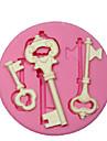 moule en silicone / moule clé de squelette steampunk pour l'artisanat des bijoux fondant au chocolat PMC argile de résine