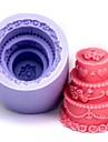 trei straturi tort mucegai tort în formă de ciocolată fondantă de silicon, instrumente de decor, l6cm * w6cm * h6.4cm