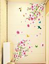 Floral Bande dessinee Stickers muraux Autocollants avion Autocollants muraux decoratifs, PVC Decoration d\'interieur Calque Mural Mur