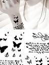1 Ogiftig Ländrygg Vattentät Djurserier Tatueringsklistermärken