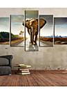 Imprimeu pânză întins Set Canava Animale Vertical Imprimeu Decor de perete Pagina de decorare