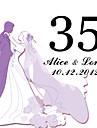 personalizate pătrat carte de număr de masă - de nuntă (set de 10)