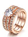 Pentru femei Cristal Grămadă Inel de declarație / Seturi de inele - Diamante Artificiale 7 / 8 / 9 Pentru Nuntă / Petrecere / Zilnic