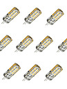 10pcs 1.5W 100 lm G4 Ampoules Mais LED T 24 diodes electroluminescentes SMD 2835 Intensite Reglable Blanc Chaud Blanc Froid DC 12V