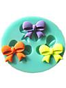 mini-bowknot fondant moules à gâteau moule de chocolat pour l'outil de décoration de gâteau de sucre cuisine de cuisson