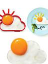 soare inel formă nor de ou la micul dejun, scule mucegai ou de gătit, silicon, L10 * W8 * h1.2cm
