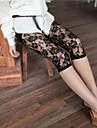 Pentru femei Dantelă Aplicată Legging - Dantelă Talie medie