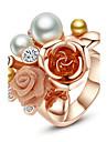 Pentru femei Inel de declarație - Perle, Placat Auriu, Aliaj Floare Modă, Declarație O Mărime Pentru Petrecere