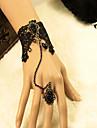 Europa și Statele Unite ale antic dantelă neagră set inel brățară de sex feminin