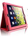 Maska Pentru iPad 4/3/2 iPad Air 2 iPad Air Cu Stand Auto Sleep / Wake Carcasă Telefon Culoare solidă PU piele pentru iPad 4/3/2 iPad Air