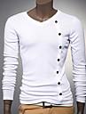 Bărbați Tricou Casul/Zilnic Muncă Plus SizeMată Manșon Lung Bumbac Altele