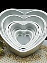 5 inch forma de iubire de metal inima tort mucegai detașabil vii mucegai patiserie jos