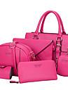 Femei Genți Toate Sezoanele PU Geantă Umăr Tote Ambreiaj Portmoneu Card & ID Portmoneu Seturi de sac Set de pungi pentru 6 buc pentru