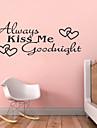 sărut întotdeauna mi Goodnight citate zy8053 ADESIVO de Parede vinil autocolante de perete decor acasă arte murale