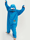 kigurumi Pyjamas New Cosplay® Dessin-Anime Collant/Combinaison Fete / Celebration Pyjamas Animale Halloween Bleu Mosaique Polaire Kigurumi