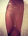 Dame Coliere Layered Geometric Shape lună Diamante Artificiale Aliaj La modă bijuterii de lux costum de bijuterii Bijuterii Pentru Ocazie