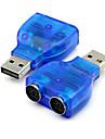 USB 2.0 la conectorul adaptor PS2 PS / 2 mouse-ul PC-ul convertor de tastatură albastru