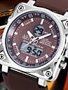Bărbați Ceas de Mână Quartz Quartz Japonez Alarmă Calendar Cronograf Rezistent la Apă LCD Zone Duale de Timp  Cauciuc Bandă Negru