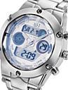 ASJ Ανδρικά Αθλητικό Ρολόι Ρολόι Καρπού Ιαπωνικά Χαλαζίας Ανοξείδωτο Ατσάλι Ασημί 30 m Ανθεκτικό στο Νερό Συναγερμός Ημερολόγιο Αναλογικό-Ψηφιακό Πολυτέλεια - Λευκό Μαύρο Μπλε / Χρονογράφος / LCD