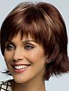 Syntetiska peruker Rak Asymmetrisk frisyr Syntetiskt hår Naturlig hårlinje Brun Peruk Dam Korta Cosplay Peruk / Kostym Peruk Utan lock