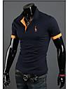 T-Shirts (Coton mélangé) Informel Col chemise à Manches courtes