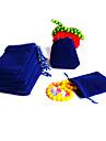 Genți de Bijuterii Material Textil Albastru Închis