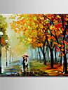HANDMÅLAD LandskapModerna Europeisk Stil En panel Kanvas Hang målad oljemålning For Hem-dekoration