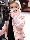 Fete Căptușit Bumbac Poliester Iarnă Toamnă Manșon Lung Negru Roz