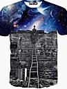 T-shirt Per uomo Sport Con stampe Cotone / Manica corta