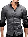 casual / de lucru / formale / plus dimensiuni bărbați dungi / pur maneca lunga cămașă regulat (bumbac)